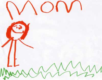 Child art, mom