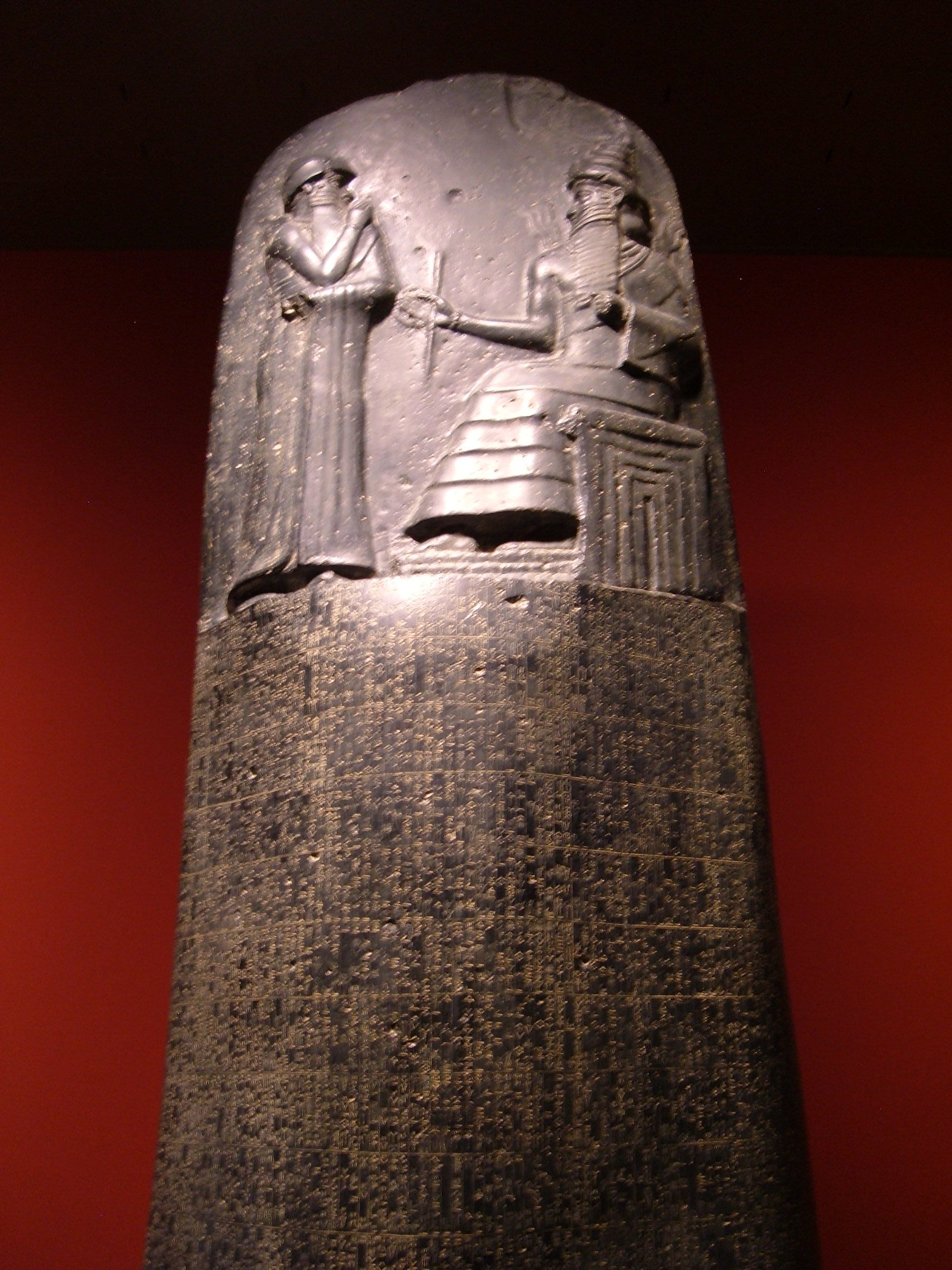 File Code of Hammurabi replica stele REM JPGStele With Law Code Of Hammurabi