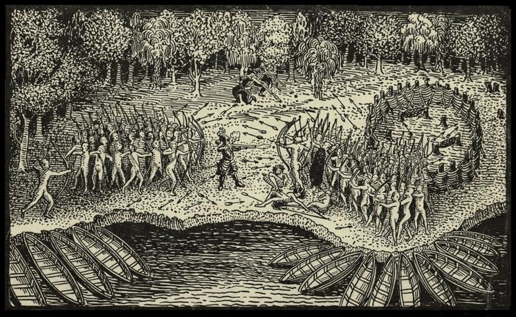 Image result for woodcut the wendat