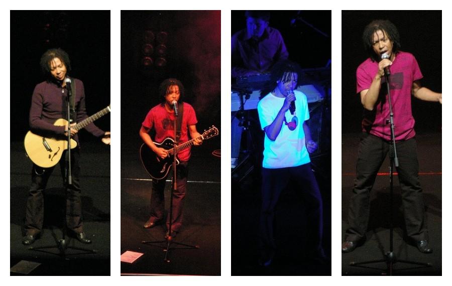 Djavan durante un concierto en Chile, en 2008.