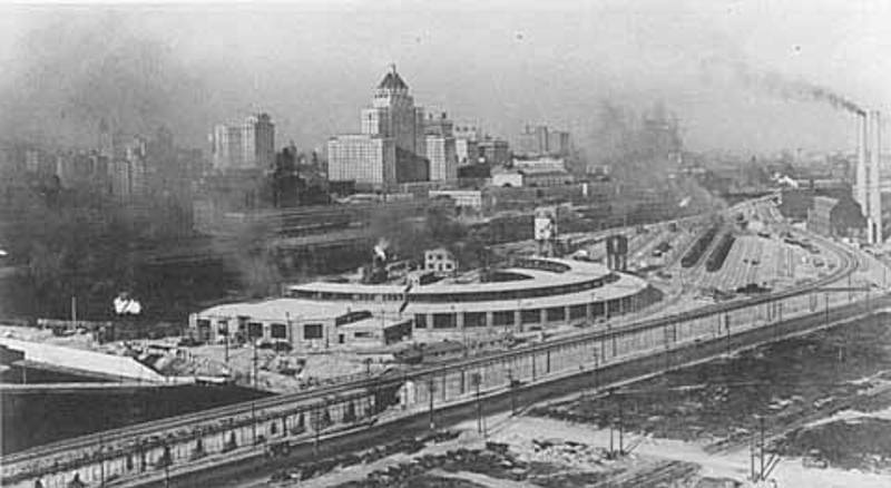 File Early 1900s View Of The John Street Cpr Roundhouse Toronto Jpg