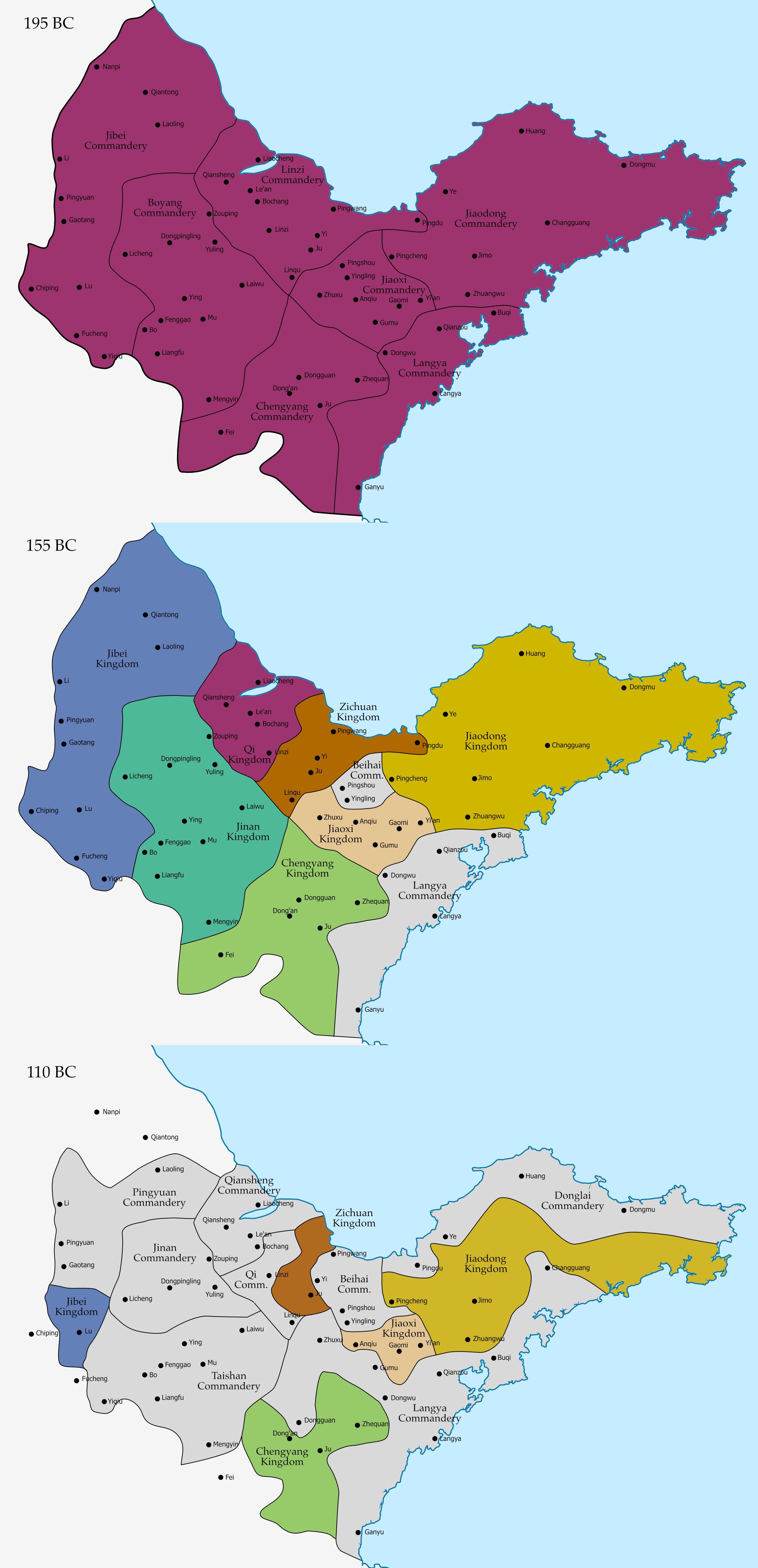 Qi Kingdom Han Dynasty Wikipedia