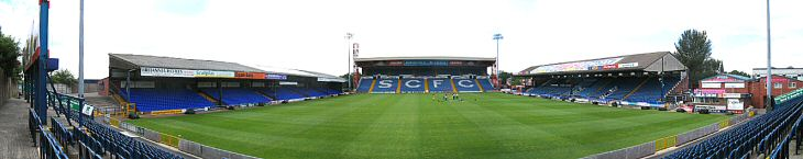 Vista panoràmica d'Edgeley Park.