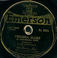 Label of an Emerson Record from 1919. This 10-...