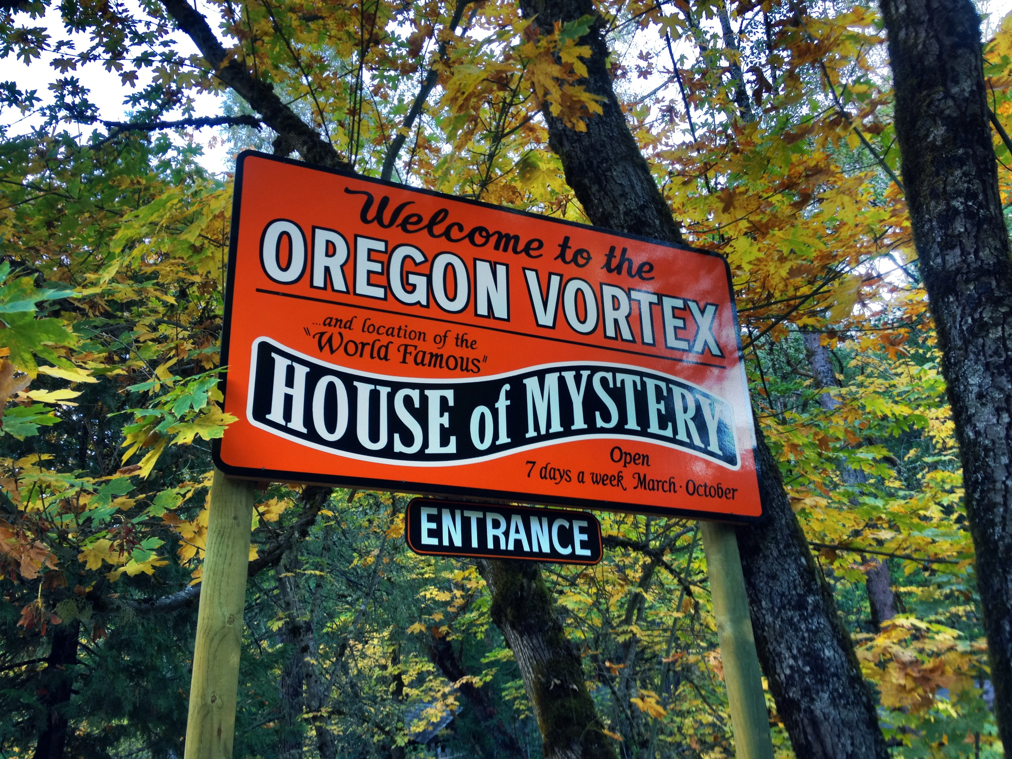 Oregon Vortex sign