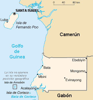 Golfo De Guinea Mapa.List Of Colonial Governors Of Spanish Guinea Wikipedia