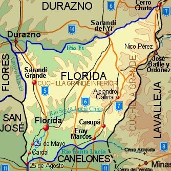Resultado de imagen para DEPARTAMENTO DE LA FLORIDA URUGUAY