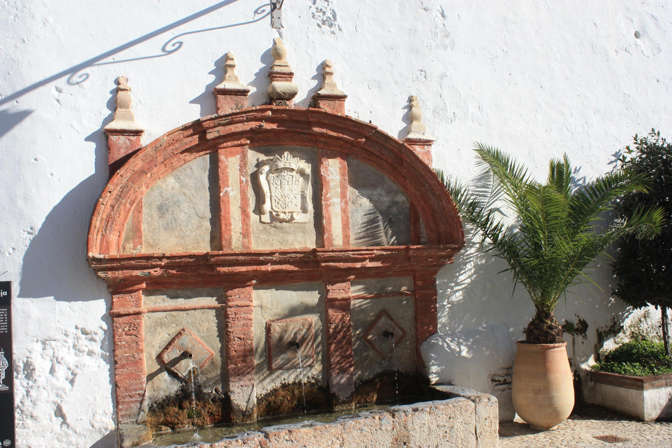 Old fountain in Frigiliana