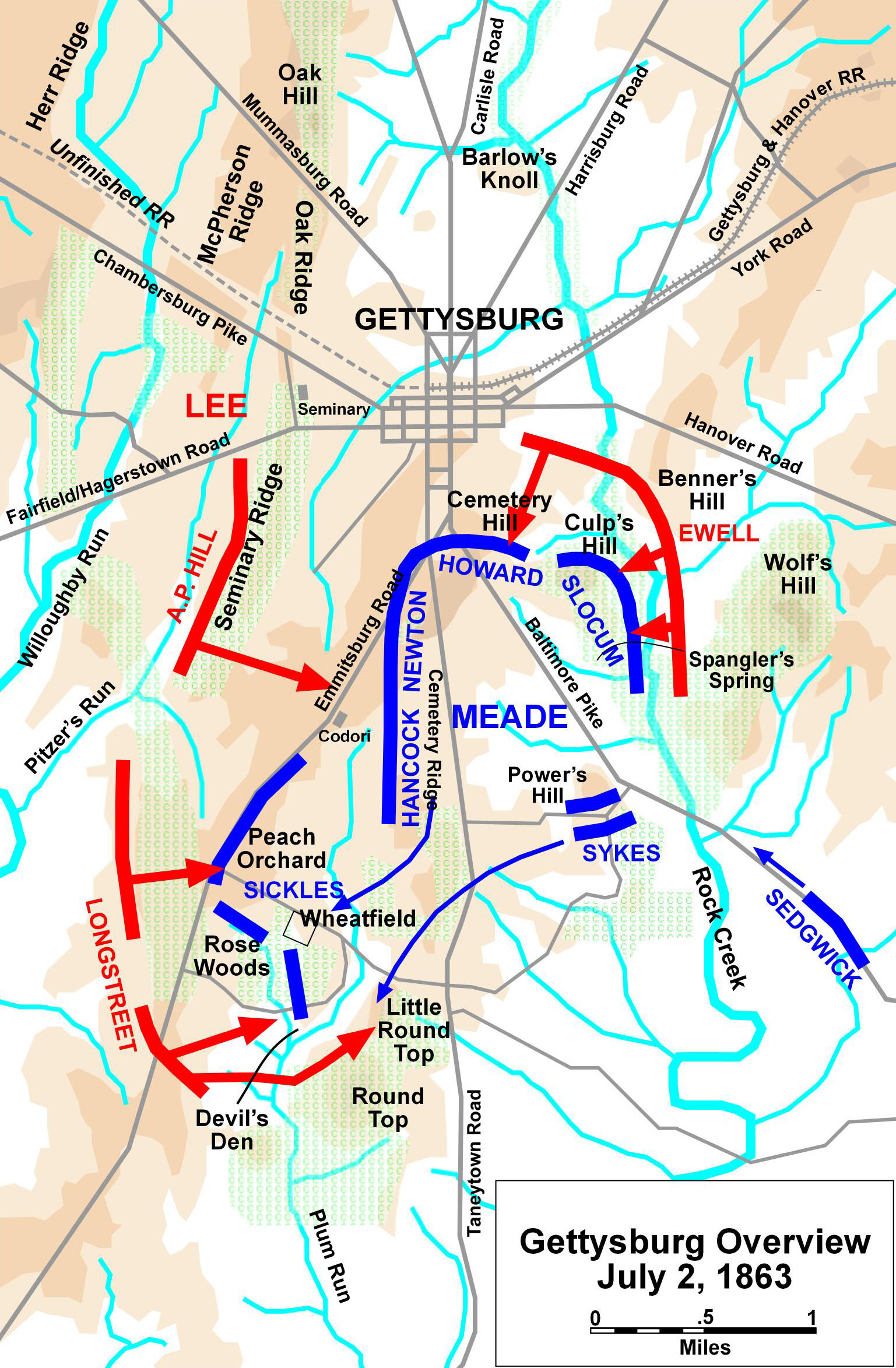 the details of the battle gettysburg Battle of gettysburg: battle of gettysburg, major engagement in the american civil war, fought southwest of harrisburg, pennsylvania, that was a crushing southern defeat.