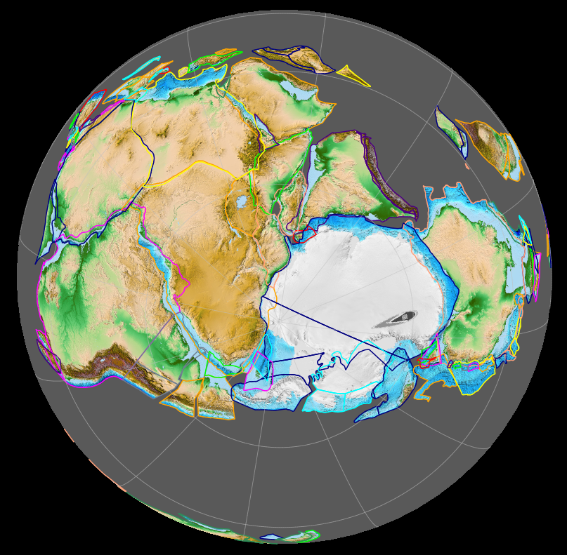 Map Of Australia 50 Million Years Ago.Gondwana Wikipedia