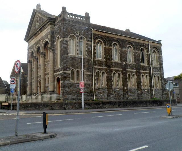 Grade II* listed Tabernacle Chapel, Llanelli (geograph 3055142)