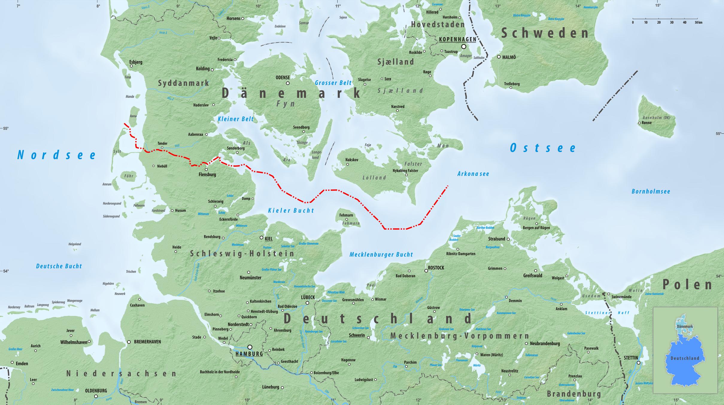 deutschland dänemark landkarte Grenze zwischen Dänemark und Deutschland – Wikipedia