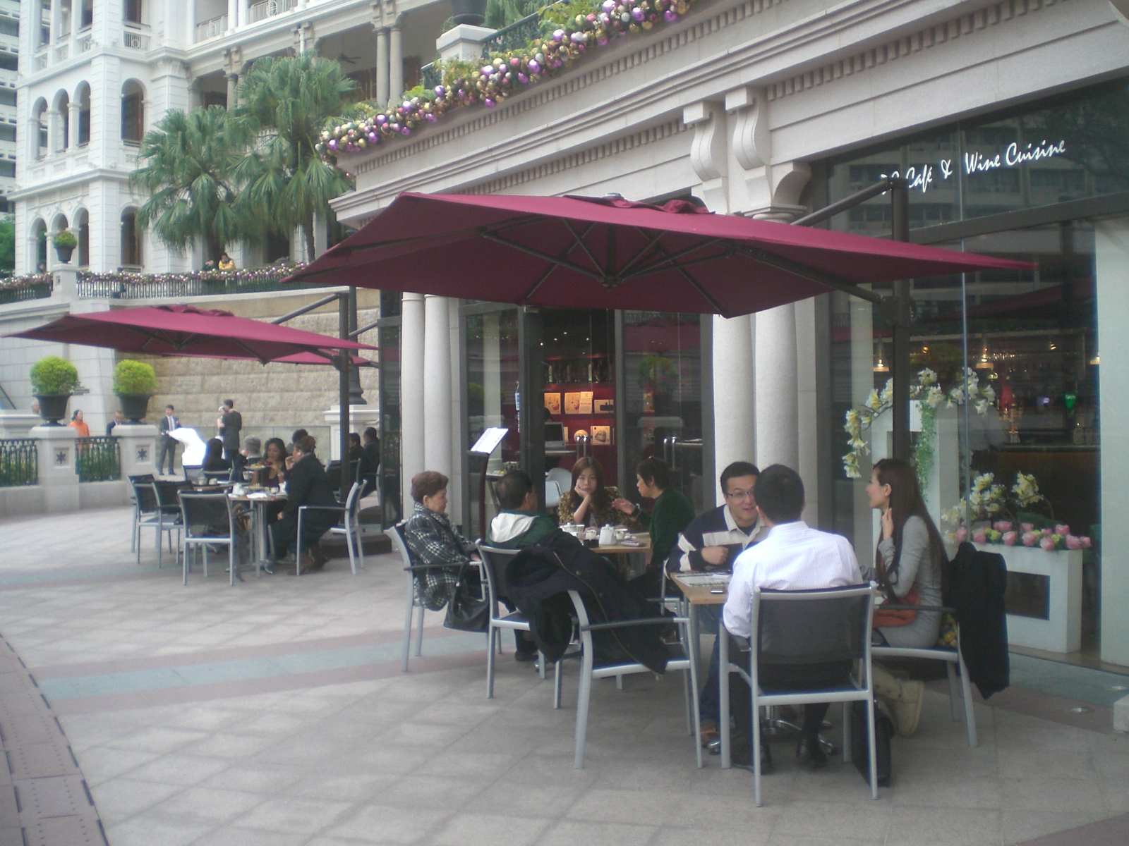 File:HK TST 1881 mall restaurant DG Cafe outdoor sidewalk umbrella ...