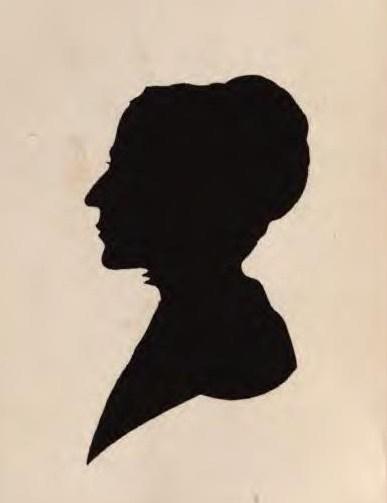 Hannah Kilham, silhouette portrait.