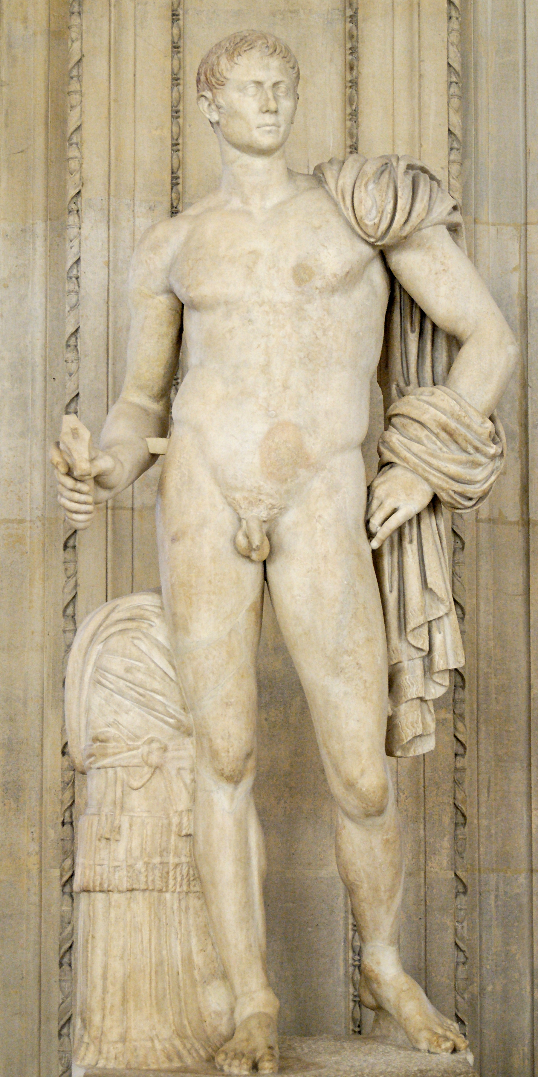 Ancient marble statue of a nude woman stock photo