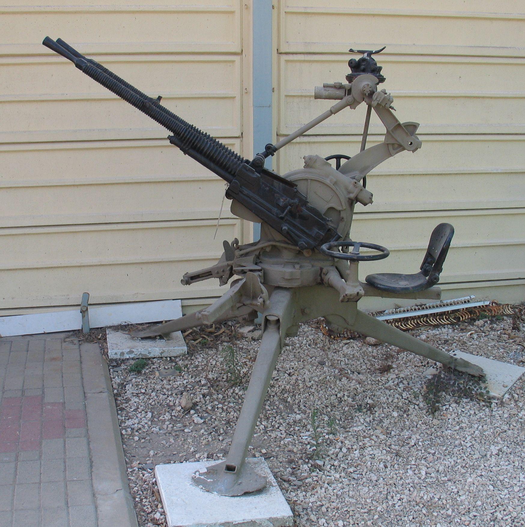 Ametralladora Hotchkiss 13,2 mm Hotchkiss-13.2mm-x2-AA-machine-gun-batey-haosef-2-1