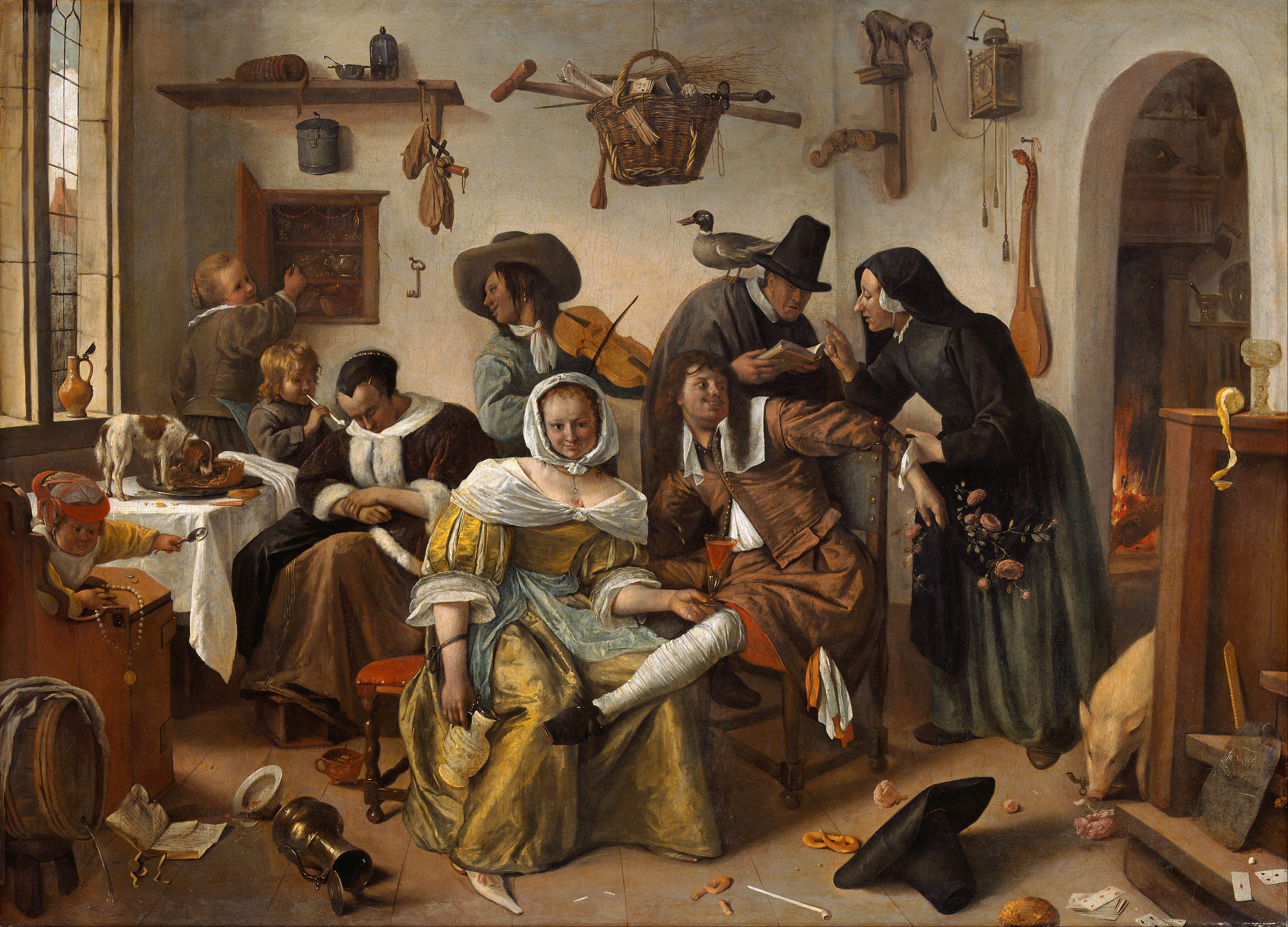 Baroque painting a strict moral code asserted with for Define baroque art