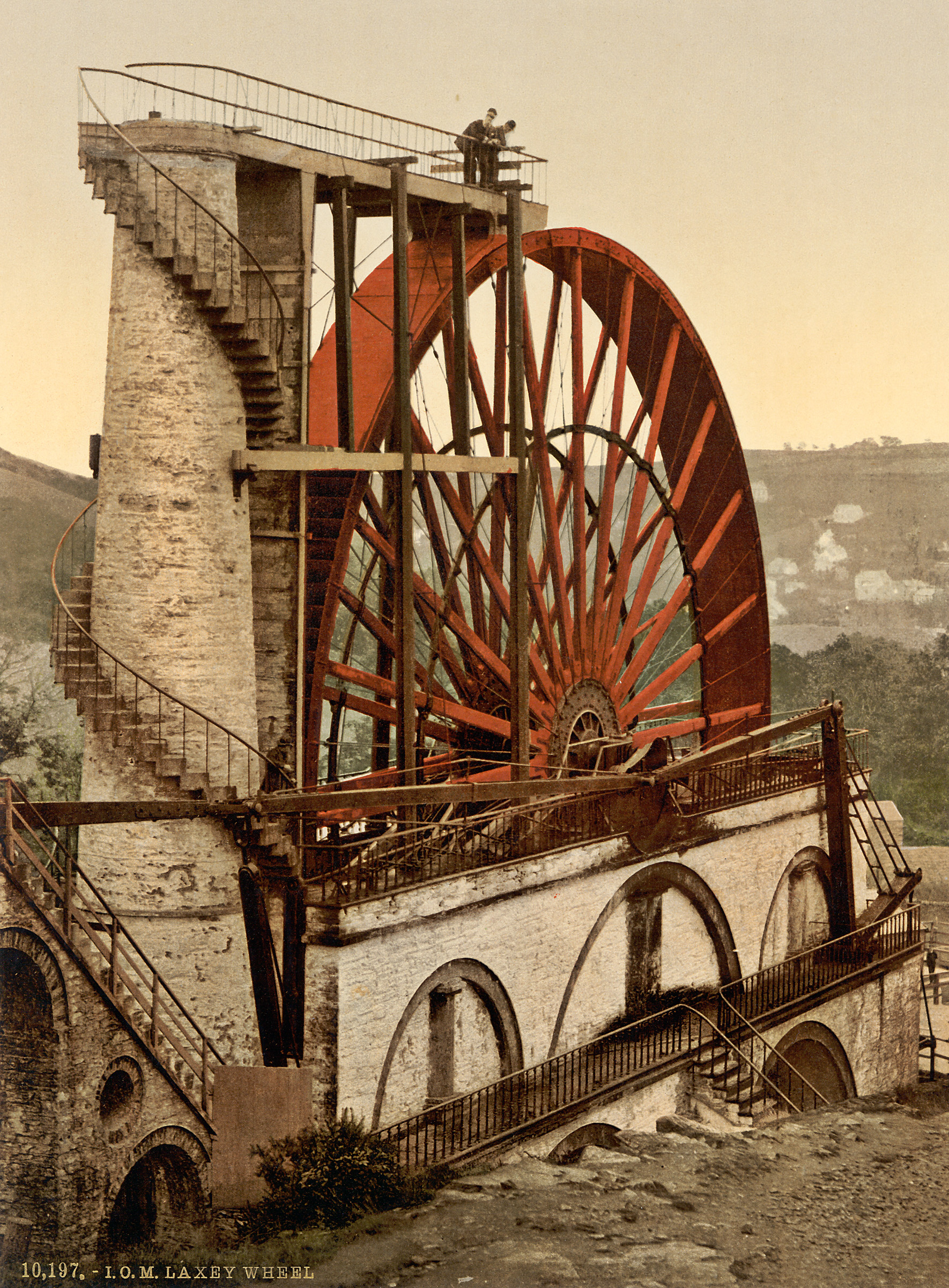 The Wheel, Laxey, Isle of Man 1900 - Foto: WikiCommons