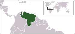Location of Venezuela