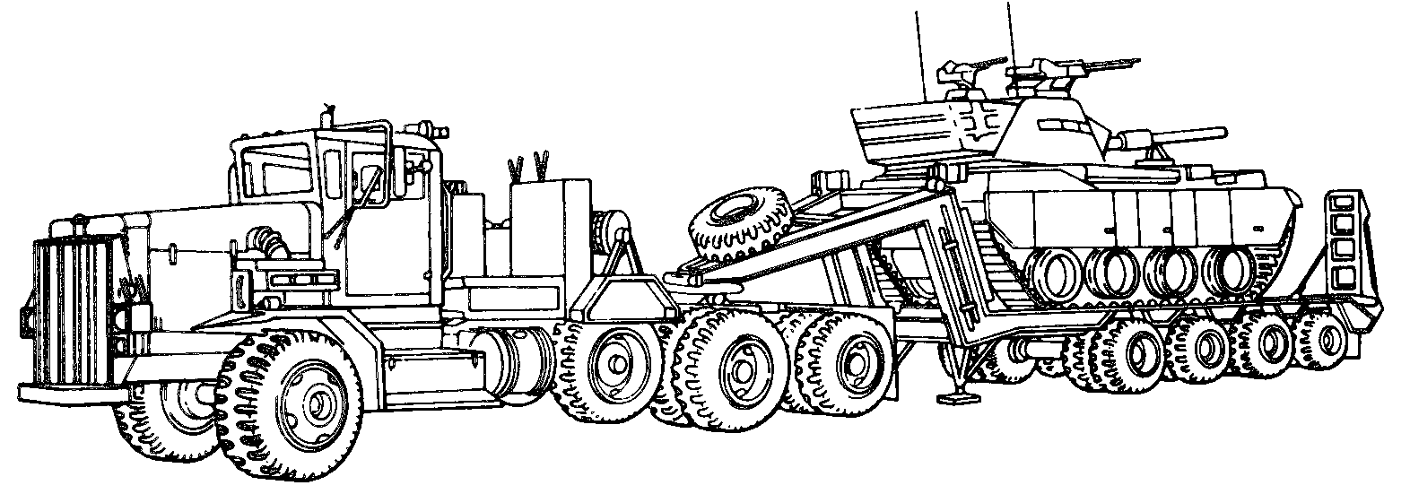 Semi Truck Coloring Pages Printable