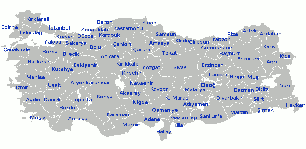 Provinces of Turkey - Wikimedia Commons