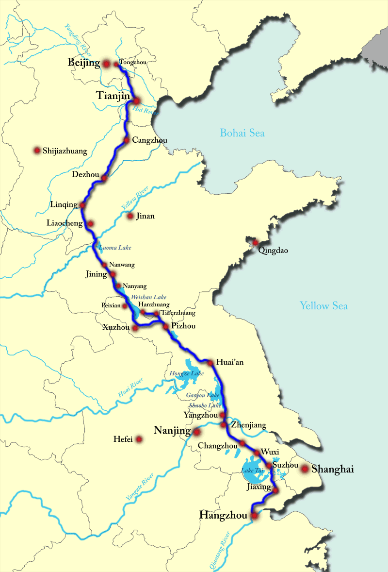 Grand Canal China Map Grand Canal, China | Building the World