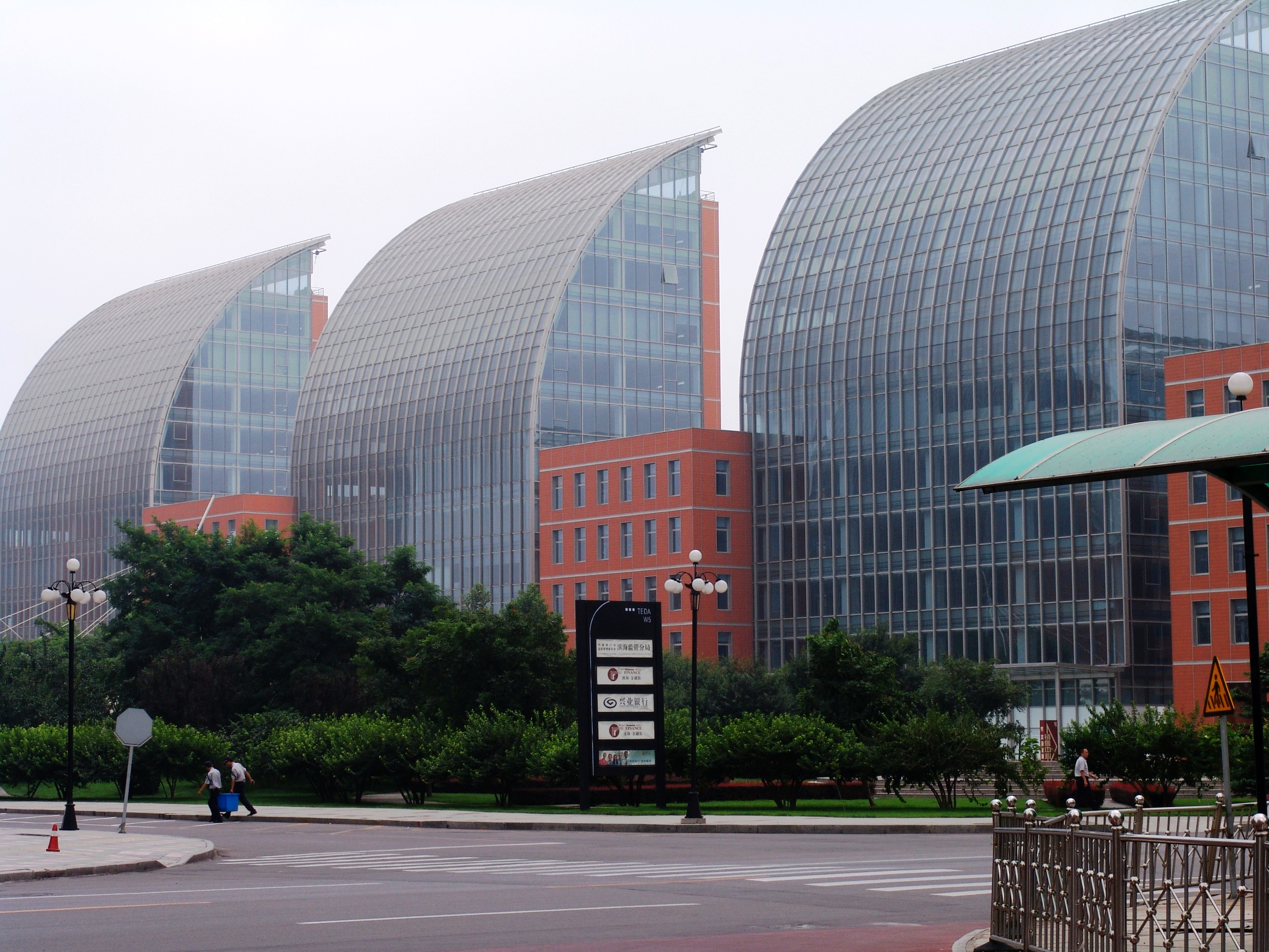 file modern buildings in tianjin economic technological development