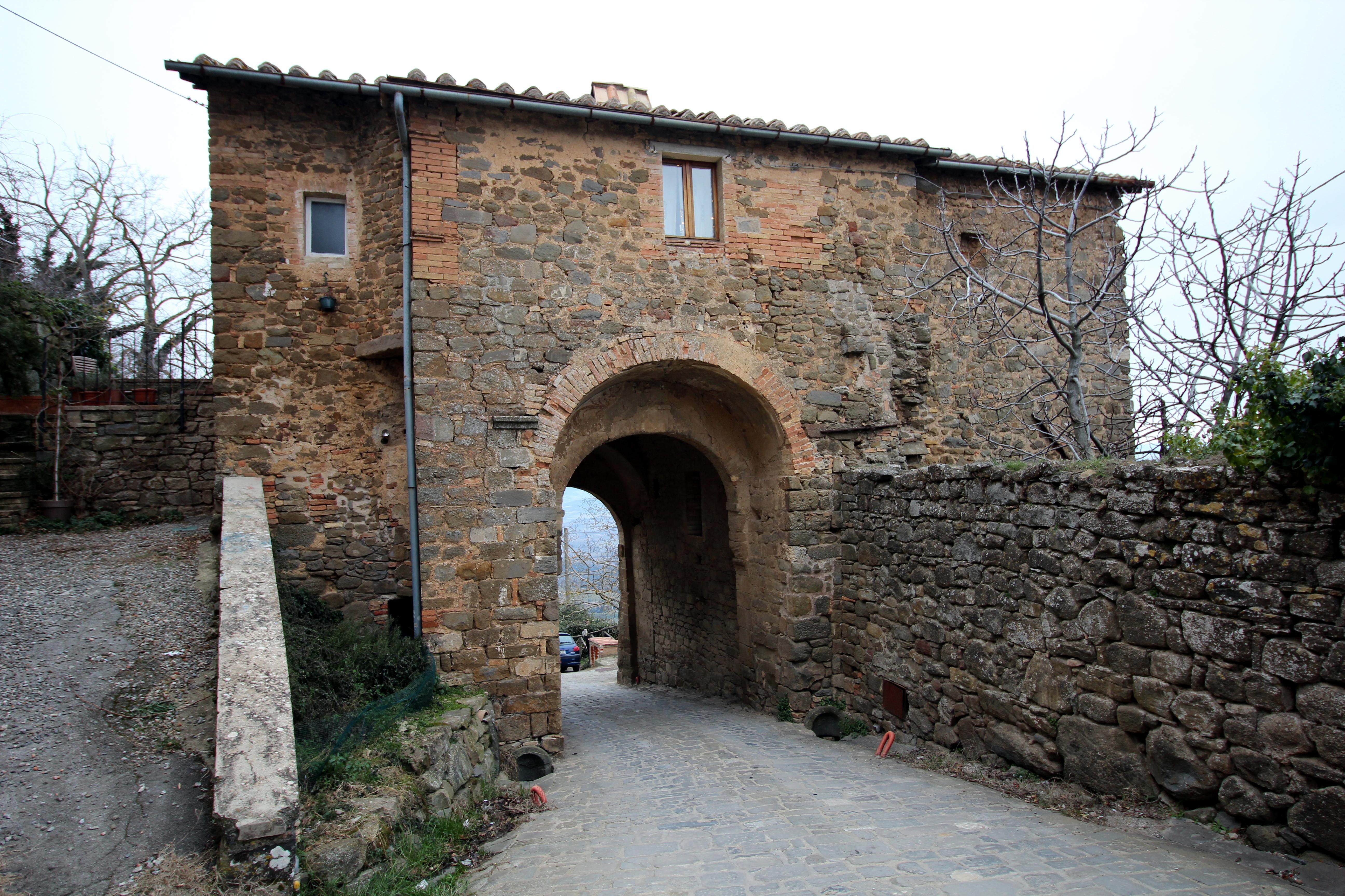 Porta Burelli, City Gate in Montalcino