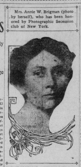 Self-portrait of Anne Brigman published in ''The San Francisco Call'' in 1908