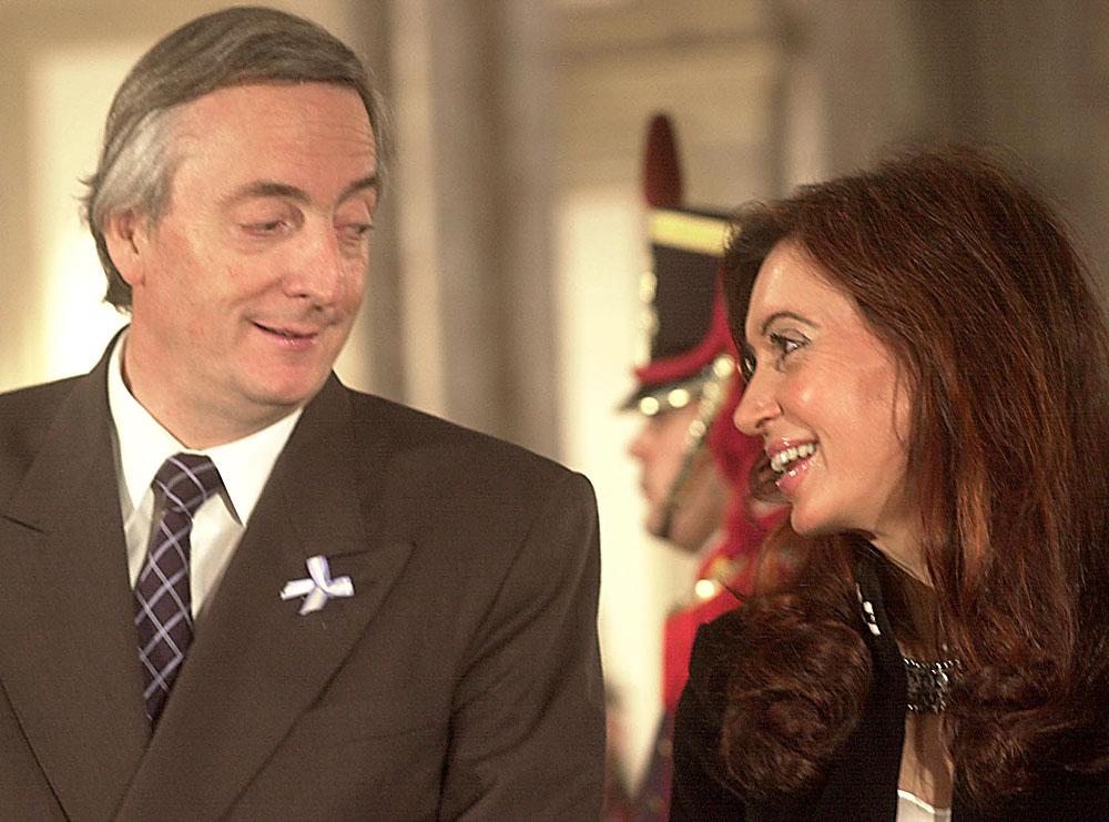 Nestor et Cristina Kirchner- Football