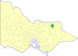 Shire of Yackandandah Local government area in Victoria, Australia