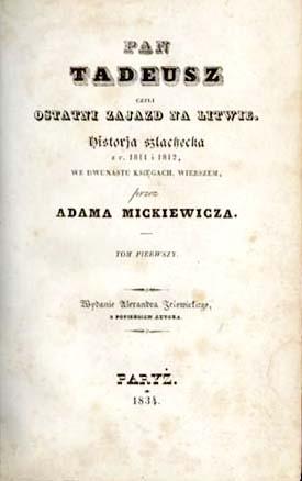Pan Tadeusz Wikipedia Wolna Encyklopedia
