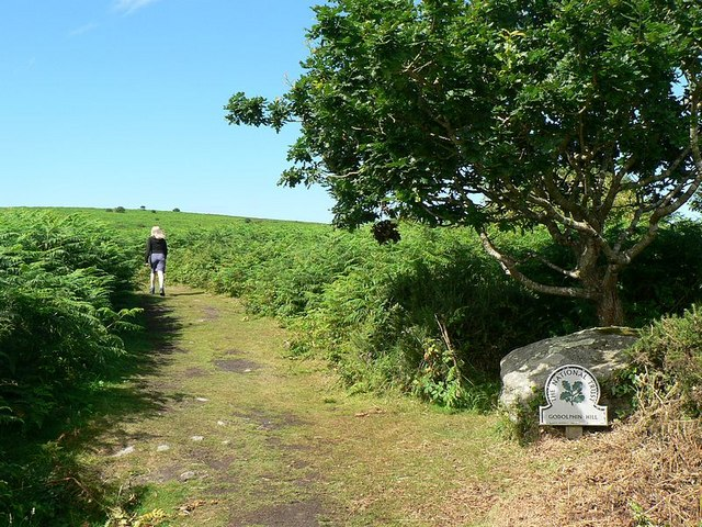 Path up Godolphin Hill - geograph.org.uk - 224748