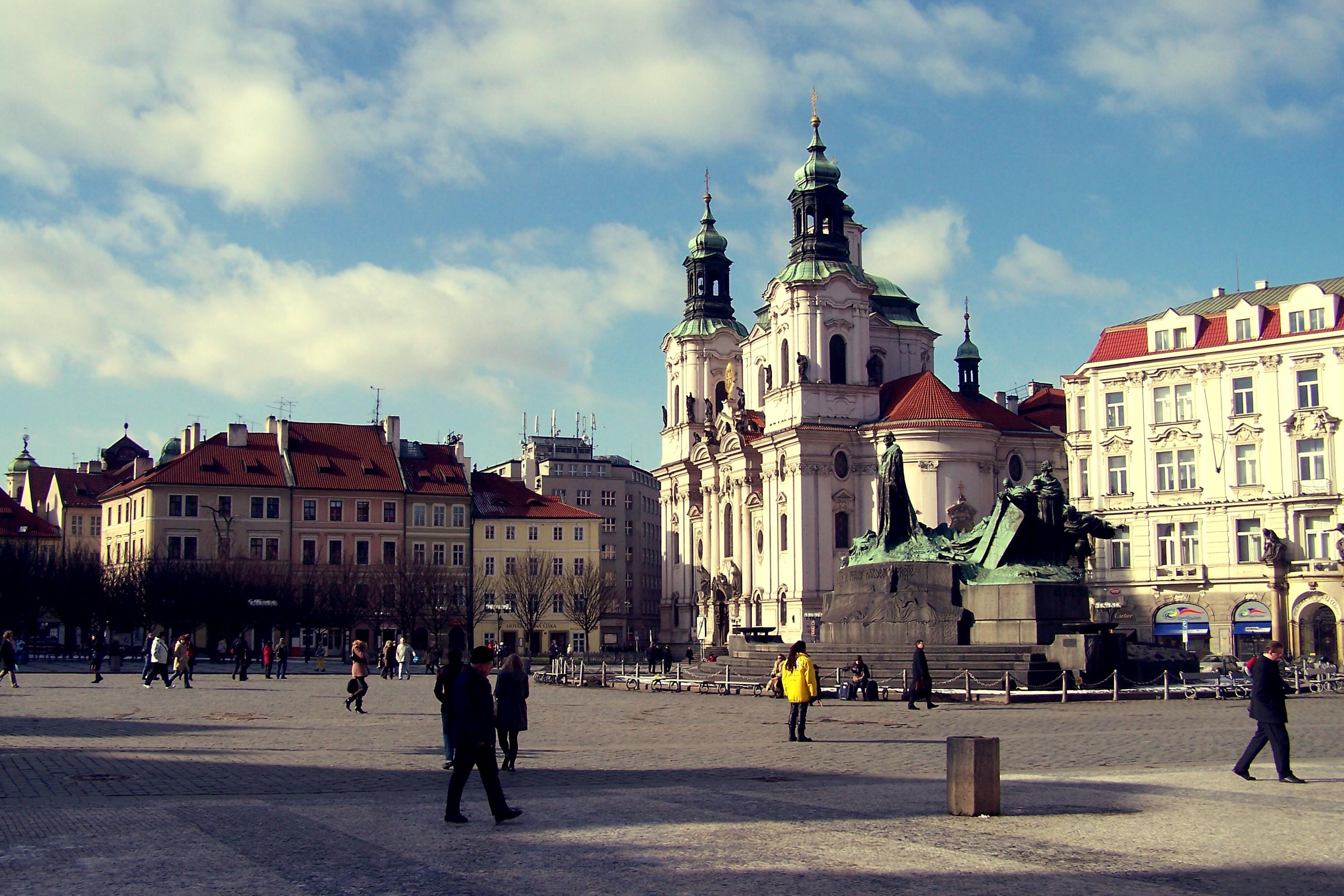 Prague Vieille Ville Neige