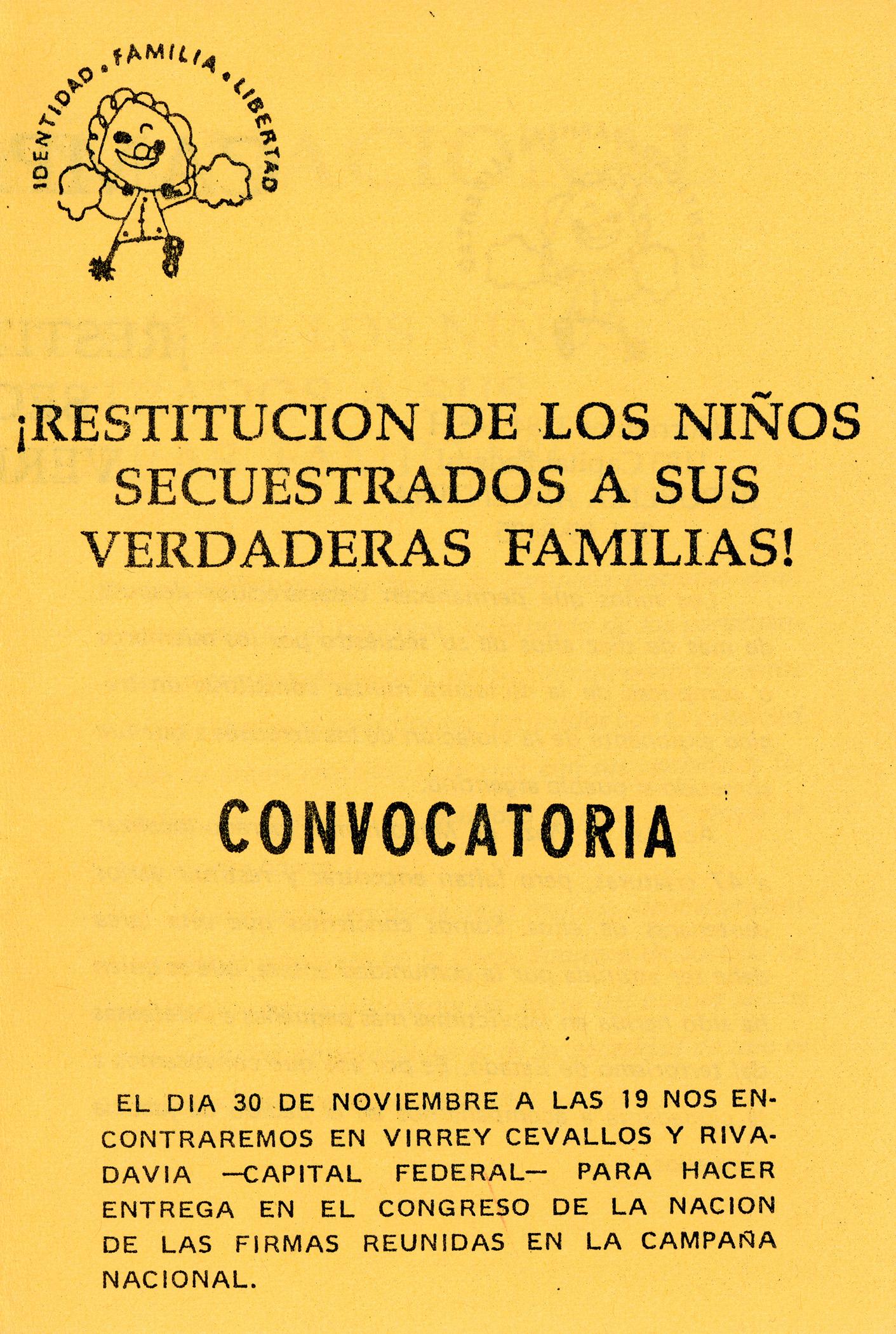 Fileportada Folleto De La Campaña Nacional Por La Restitución De
