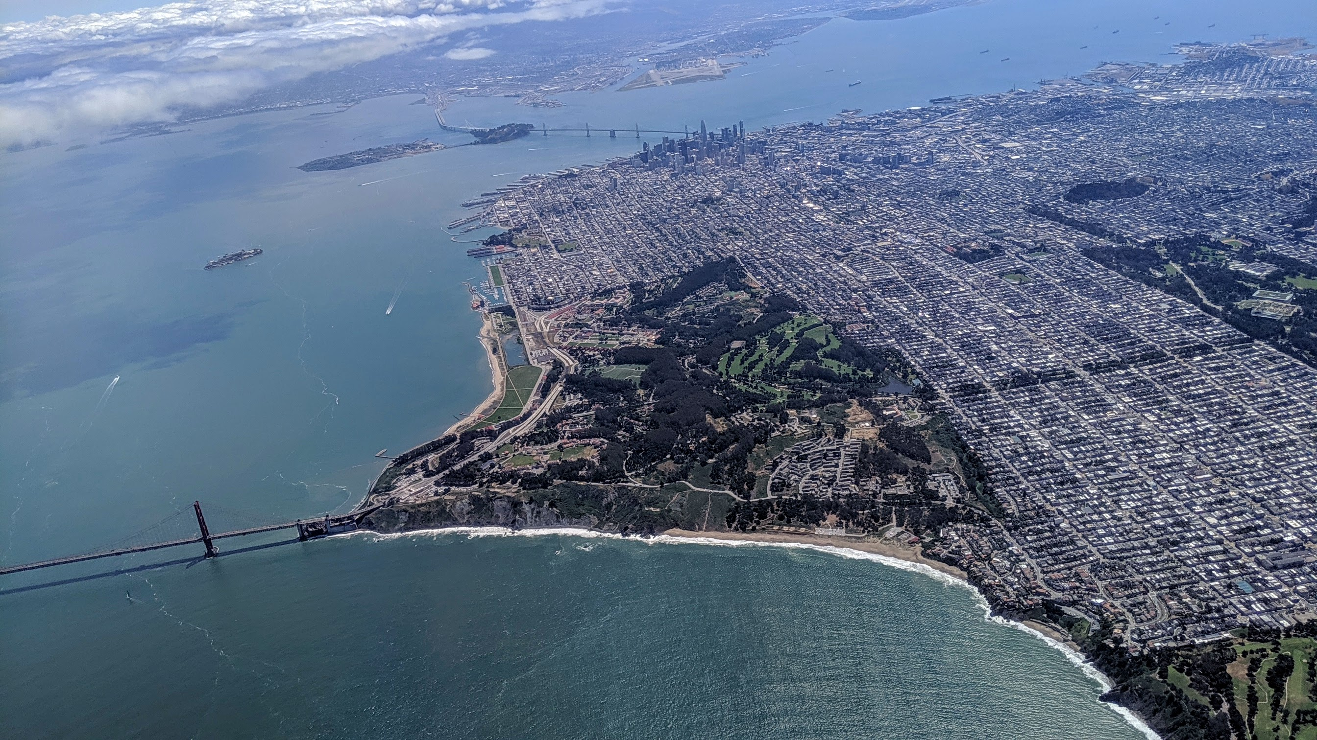 Aerial view of the Presidio, San Francisco, California