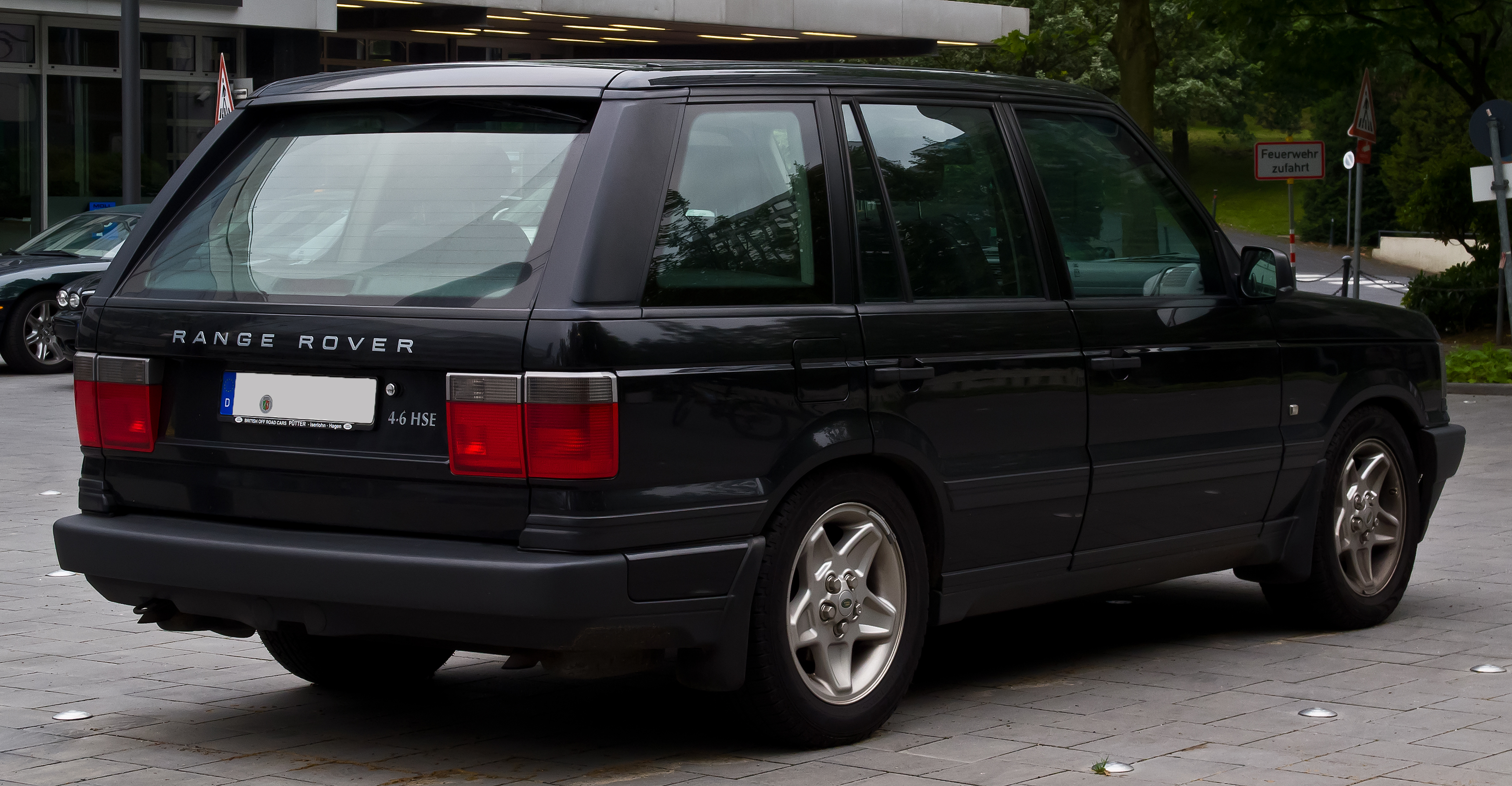 file range rover 4 6 hse ii heckansicht 12 juli 2014 d wikimedia commons. Black Bedroom Furniture Sets. Home Design Ideas