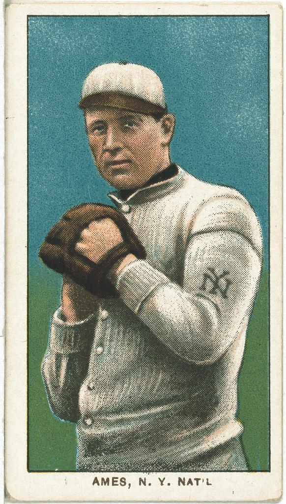 Filered Ames New York Giants Baseball Card Portrait