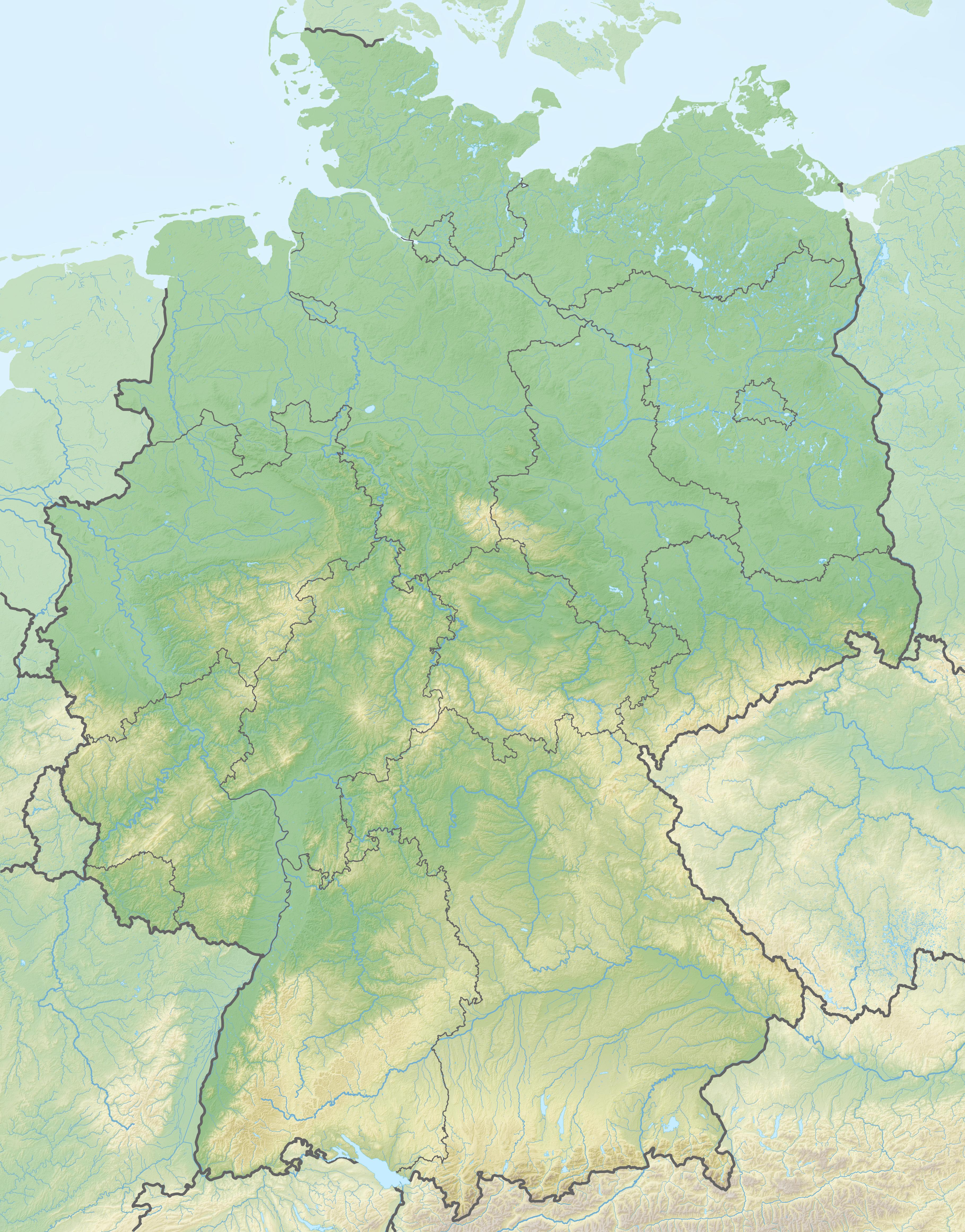 karte deutschland berge Liste der höchsten Berge der deutschen Länder – Wikipedia