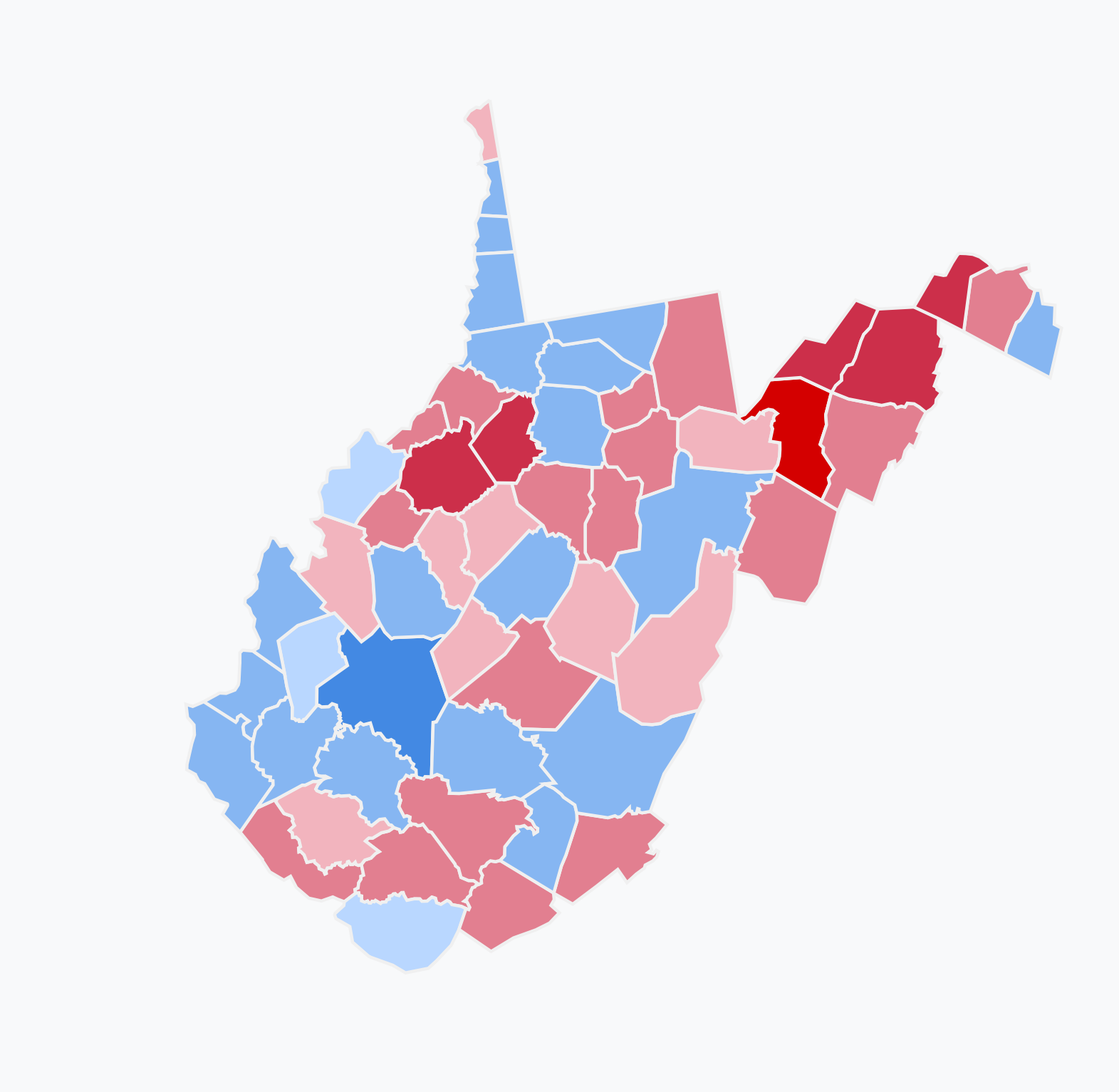 File:Results of the 2018 Senate election in West Virginia png