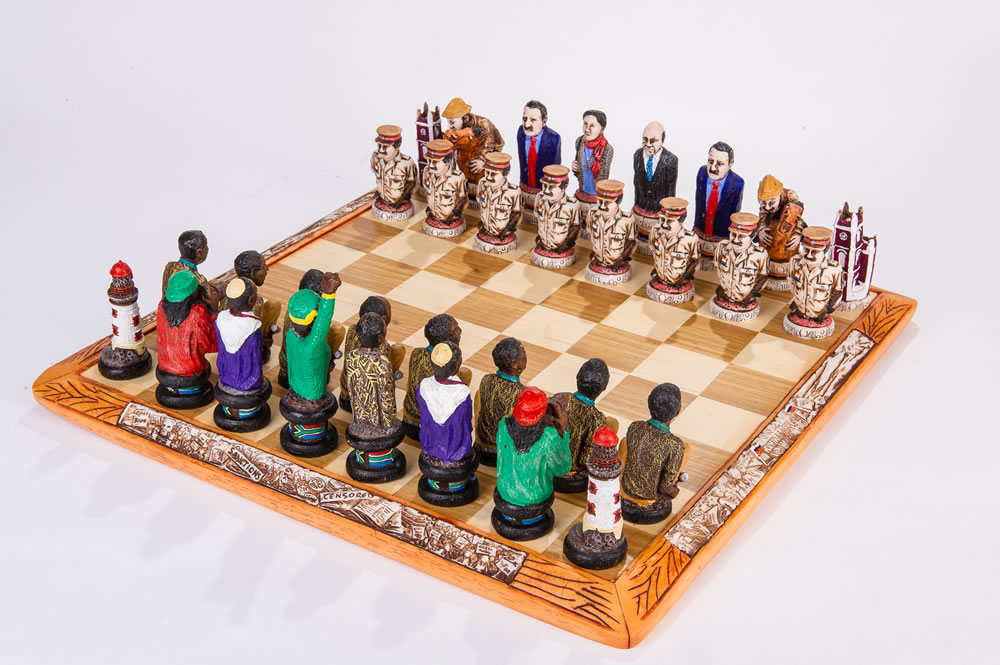 Detailed Chess Set Part - 19: File:Robben Island Themed Chess Sets.jpg