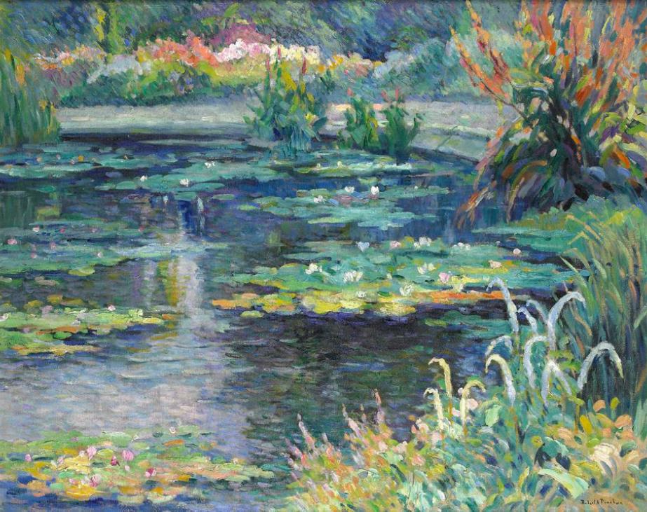 File robert antoine pinchon le bassin aux nymph as oil on canvas 6 - Le bassin aux nympheas ...