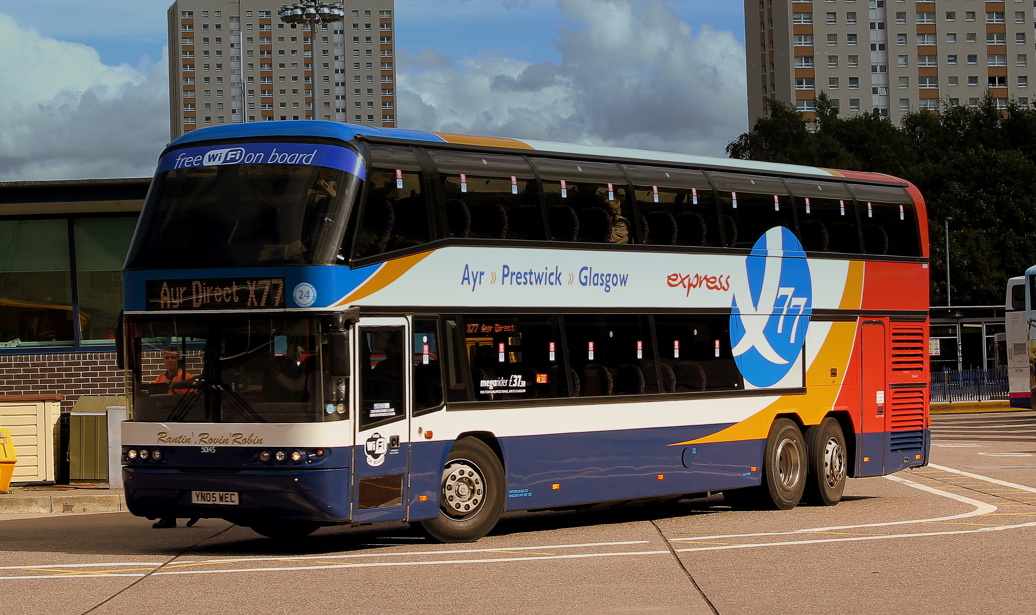 File:STAGECOACH X77 SERVICE NEOPLAN DOUBLE DECK COACH AT GLSGOW