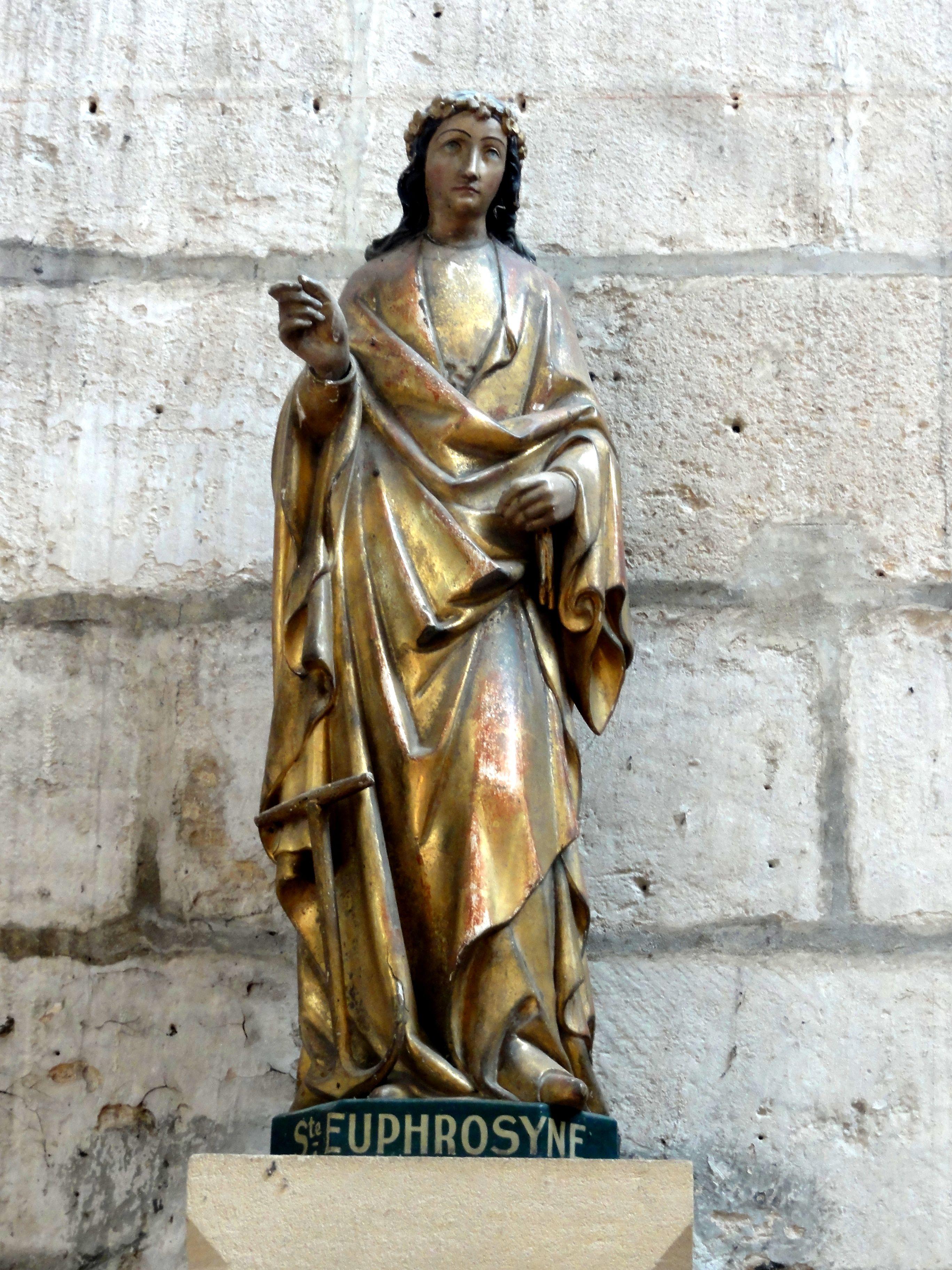 File Saint Jean aux Bois (60),église abbatiale, statue de sainte Euphrosyne jpg Wikimedia Commons # Saint Jean Au Bois