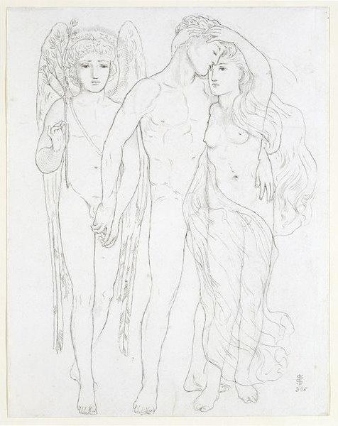Image result for Solomon's drawingThe Bride, Bridegroom and Sad Love (1865