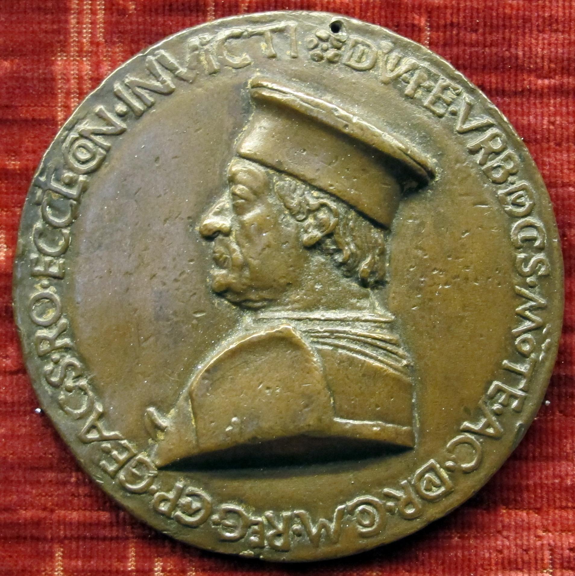Sperandio savelli, medaglia di federico da montefeltro, duca di urbino.JPG