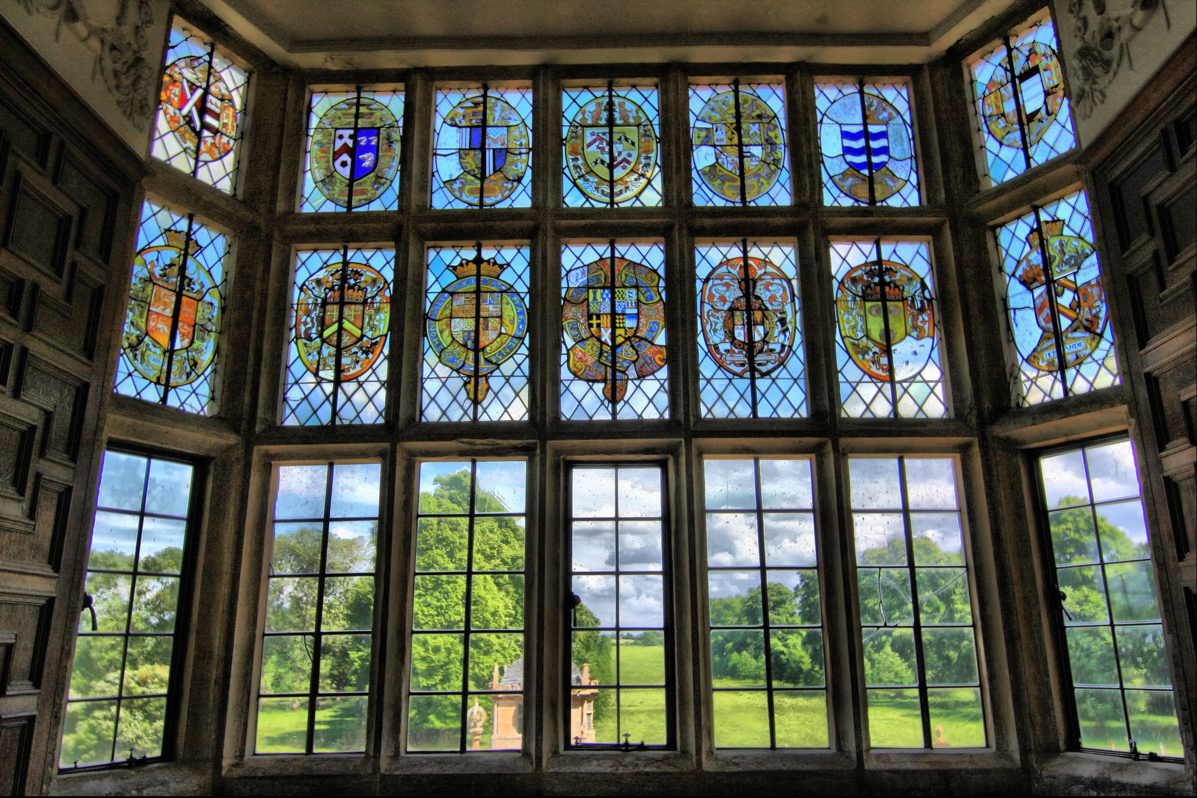 File stained glass window overlooking gardens of for Where to buy house windows