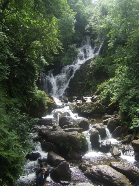 An image of Torc Waterfall, a common player in the folklore of rivers and waterfalls in Ireland.