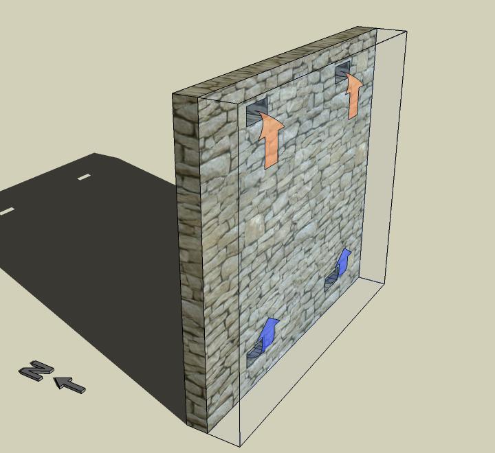 Trombe wall design