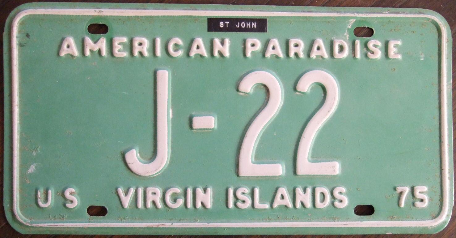 Fileus Virgin Islands St John 1975 License Plate Flickr